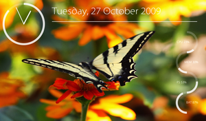 Conky Widgets + Butterfly by londonali1010