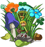 Zelda: The Minish Cap by Zelbunnii