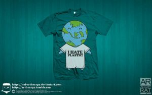 i hate plastic tees by NOF-artherapy