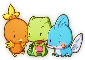 Tiny Hoenn Starters by KevKeaf