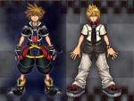 KH II: Sora and Roxas by DarkElements10