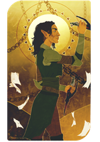 Tarot Commission - Annithi Lavellan by undeadsiren