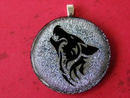Twilight Wolf Fused Glass by FusedElegance