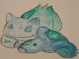 Bulbasaur watercolor by nagashizuri