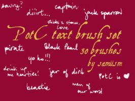 PotC text brushes by silveris