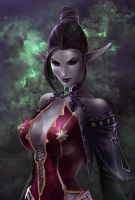 Dark Elven Beauty Haiza by IvannaMatilla
