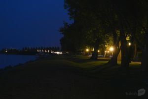 Balaton at night by trollwaffle