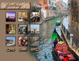 Venice tourism website gallery page design by TheMim