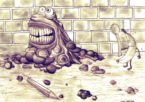 mud monster by rubbe