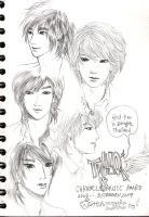 another TVXQ sketch by mikansom