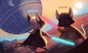 Duura and Chyap by Siffou
