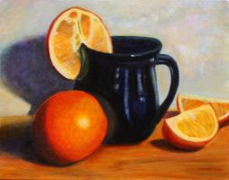 Still Life with Oranges by milbisous