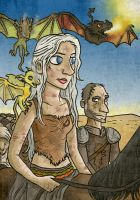 Daenerys across the desert by Monkey19934