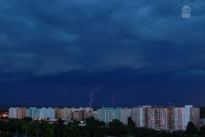 Lightning and storm - Gyor by morpheus880223