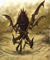 Insectoid warrior by Crowsrock