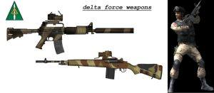 delta force weapons and uniform by guy191184