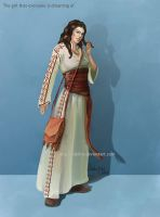 Young Peasant Girl Concept by delira