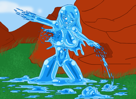 Slime Girl Regeneration by klareszj