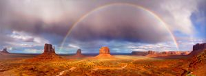 Rainbow over Monument Valley by R-Y-T-O