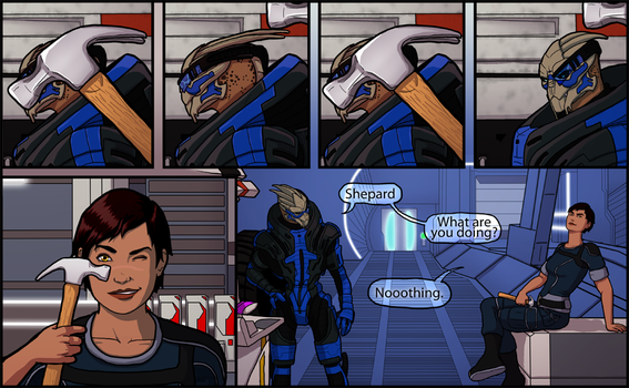 Messing With Garrus by EightyEightDoodles