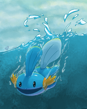 Mudkip by ColdBed
