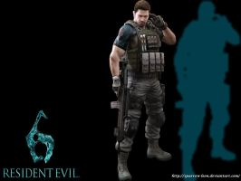 Chris Redfield ~ Resident Evil 6 by Sparrow-Leon