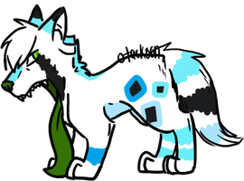 Jawless x DNA puppy by Otackoon