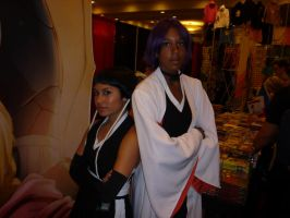 Yoreachi and Soi Fon by LuxiotheEchidna