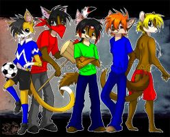 Firewolf's characters by Shivita