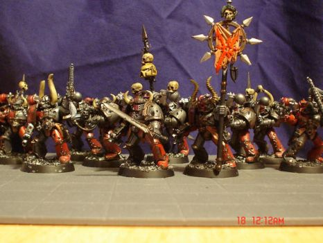 Chaos Marine Squad Harknor by Possum-Man