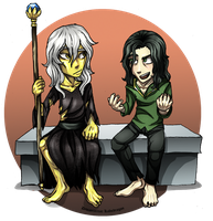 Loki n Raistlin? Slab Talk by Kabudragon