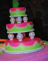green and pink cake 2 by objekt-stock
