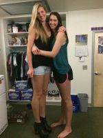 Tall volleyball players in dorm by lowerrider