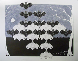Owls and Bats Tessellation by Optimus-Owl