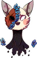 [COMM] Forget Me Not pagedoll by DrawingJockey