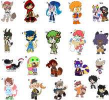 A whole lot of new Charas by LeniProduction