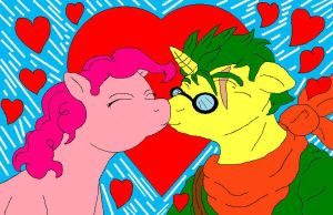 Pinkie and Geoffrey in Love by McGreger16