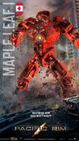 Pacific Rim Jaeger Poster-Maple Leaf I (Canada) by Neville6000