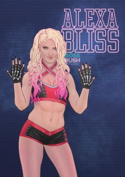 Alexa Bliss | Five Feet of Fan Art by DirkPower