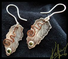 Nature Earrings by bug-in-my-eye