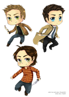Team Free Will Chibis by chibi-rice-ball-chan