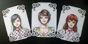 Commission/Art Trade: Aelys, Katy and Lera by Speckled-Egg