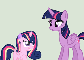 Twilight and her daughter Ura by CupidAngelWarrior