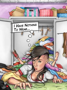 Closet Full of Clothes by medialny13