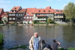 view in Bamberg at river from Ingeline by ingeline-art