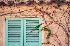 The turquoise window by ralucsernatoni