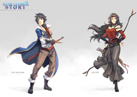 Star Chaser Story - Ivo and Kajira by wickedAlucard