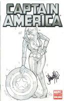 Captain America Blank Cover - Widow by 13wishes