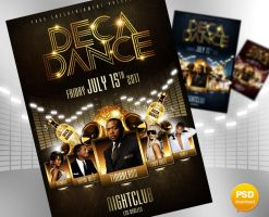 Deca Dance Party Flyer by Party-Flyer