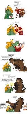 Gaston is now a goatbear too by VampireMeerkat
